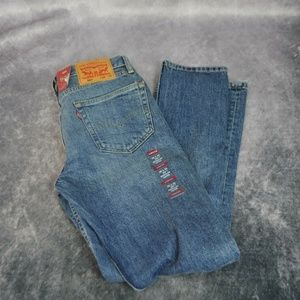 Levis 502 Mens Jeans 29W x 32L Distressed Jeans